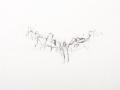sans titre, 2011, mine de plomb et crayon de couleur sur papier, 56 x 76 cm