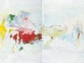 crossing 4 (diptyque), 2011, huile sur toile, 100 x 160 cm