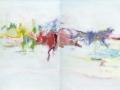 crossing 8 (diptyque), 2011, huile sur toile, 100 x 160 cm