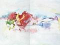 crossing 9 (diptyque), 2011, huile sur toile, 100 x 160 cm