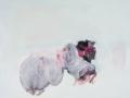 chemin faisant, 2019, huile sur toile, 100 x 117,5 cm