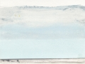 chemin faisant, se rafraîchir à l'horizon, 2018, mine de plomb, crayon aquarelle et huile sur papier, 12,6 x 16,5 cm