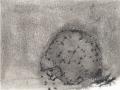 chemin faisant, se rafraîchir à l'horizon, 2018, mine de plomb, fusain et crayon aquarelle sur papier, 12,6 x 16,7 cm